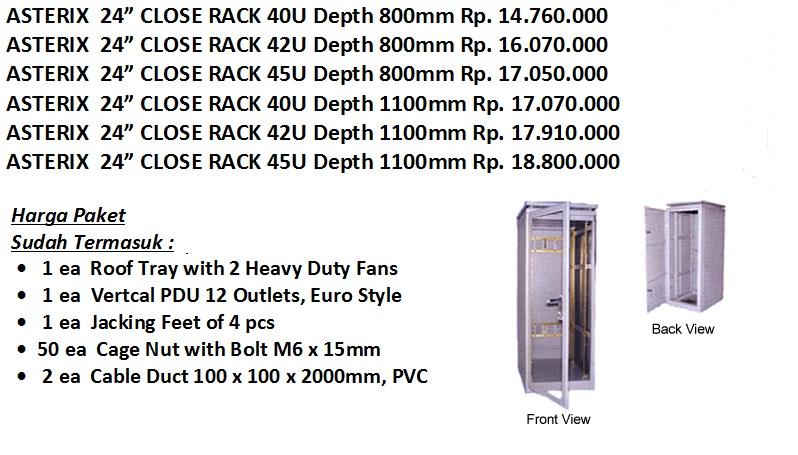 asterix rack paket murah 24 inch
